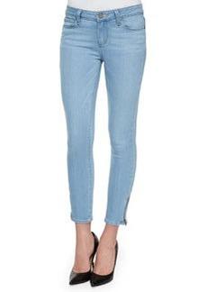 Paige Denim Verdugo Cropped Zip-Cuff Jeans, Cruz