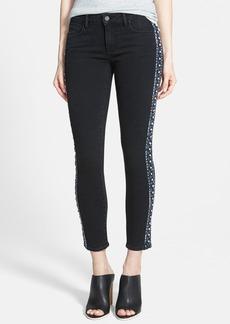 Paige Denim 'Verdugo' Embellished Crop Jeans (Black)