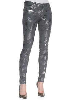 Paige Denim Verdugo Metallic Stretch Skinny Jeans, Surrealism
