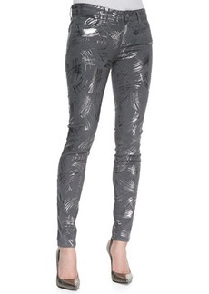 Paige Denim Verdugo Metallic Stretch Skinny Jeans, Surrealism