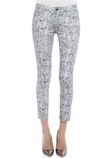 Paige Denim Verdugo Pewter Sequin-Print Skinny Jeans