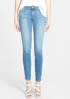 Paige Denim 'Verdugo' Side Stripe Skinny Jeans (Moroccan Indigo Tuxedo)