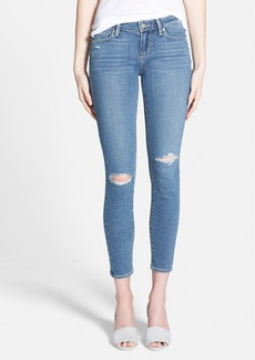 Paige Denim 'Transcend - Verdugo' Ultra Skinny Ankle Jeans (Teagan Destructed)