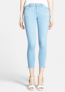 Paige Denim 'Transcend - Verdugo' Zip Hem Crop Jeans (Cruz)