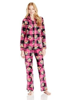 Paul Frank Women's Essentials Buffalo Check Notch Collar Gift Pajama