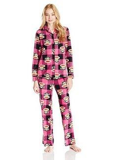 Paul Frank Women's Essentials Buffalo Check Notch Collar Gift Pajama