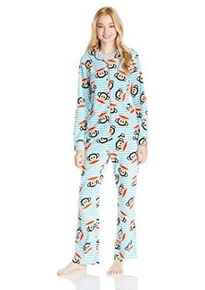 Paul Frank Women's Essentials Stripe Notch Collar Gift Pajama