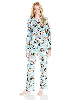 Paul Frank Women's Essentials Stripe Notch Collar Gift Pajama