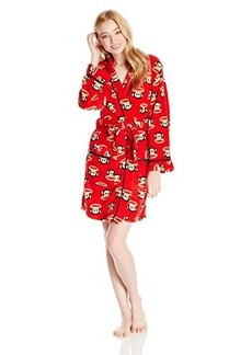 Paul Frank Women's Fuzzy Fun Julius Head Print Robe