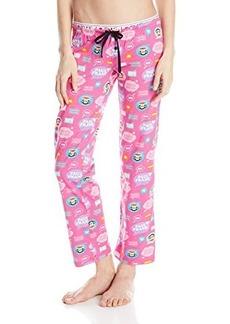 Paul Frank Women's Logo Printed Pajama Pants Pink