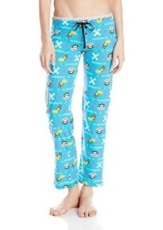 Paul Frank Women's Logo-Printed Turquoise Pajama Pants