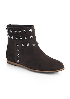 Pedro Garcia Studded Suede Ankle Boots