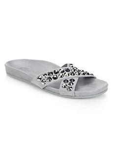 Pedro Garcia Studded Suede Slide Sandals