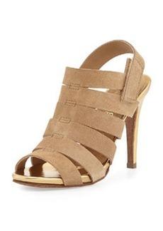 Pedro Garcia Suri Strappy Leather Sandal, Camel