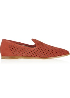 Pedro Garcia Yasmin perforated suede loafers