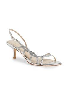 Pelle Moda 'Amina' Metallic Slingback Sandal (Women)