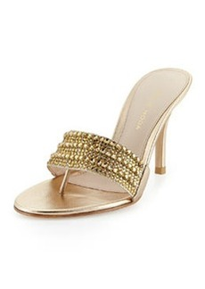 Pelle Moda Arley Metallic Evening Sandal, Platinum Gold