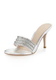 Pelle Moda Arley Metallic Evening Sandal, Silver