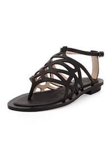 Pelle Moda Bea Leather Caged Sandal, Black