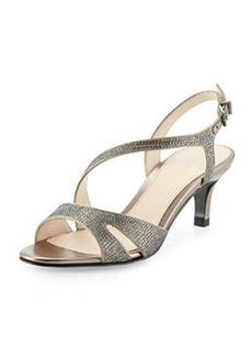 Pelle Moda Bliss Metallic Evening Sandal, Pewter