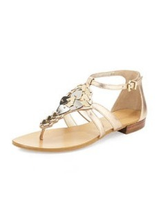 Pelle Moda Boyd Mixed Metal Sandal, Platinum/Gold