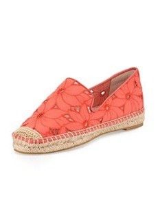 Pelle Moda Camber 5 Floral Espadrille Flat, Flame