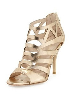 Pelle Moda Elham Evening Sandal, Platinum Gold