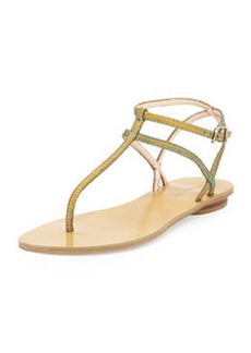 Pelle Moda Ellie 2 Metallic Embossed Thong Sandal, Multi