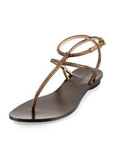 Pelle Moda Ellie Strappy Embellished Sandal, Bronze
