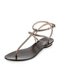 Pelle Moda Ellie Strappy Embellished Sandal, Taupe