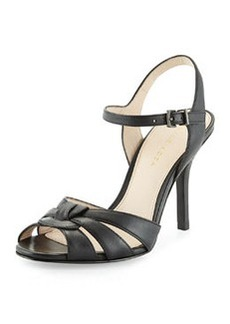Pelle Moda Gypsy Leather Evening Sandal, Black