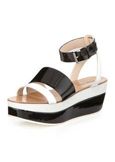 Pelle Moda Hadi 2 Wedge Sandal, White/Black