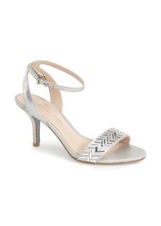 Pelle Moda 'Ines' Crystal Embellished Ankle Strap Sandal (Women)