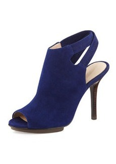 Pelle Moda Rio Crisscross-Back Suede Sandal, Dark Blue