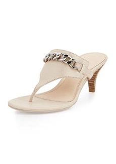 Pelle Moda Taci Chain Thong Sandal,