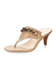Pelle Moda Taci Chain Thong Sandal, Walnut