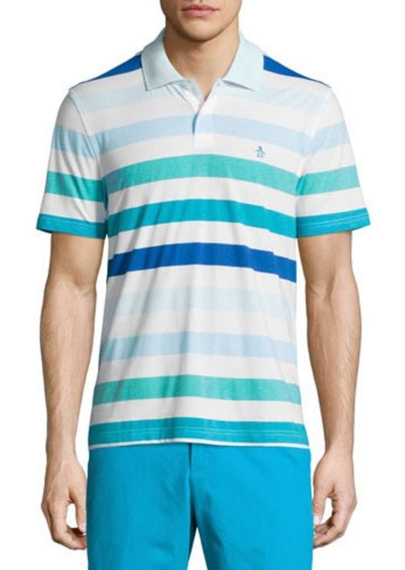 Penguin Penguin Striped Jersey Knit Polo Shirt Casual