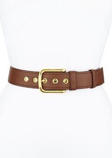 Calfskin Leather Belt, Brown (Marrone)   Calfskin Leather Belt, Brown (Marrone)