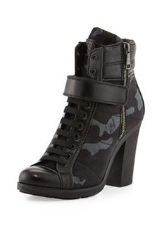 Chunky Lace-Up Camo Bootie   Chunky Lace-Up Camo Bootie