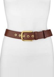 Classic Daino Leather Belt, Black   Classic Daino Leather Belt, Black