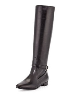Flat Ankle-Strap Knee Boot   Flat Ankle-Strap Knee Boot