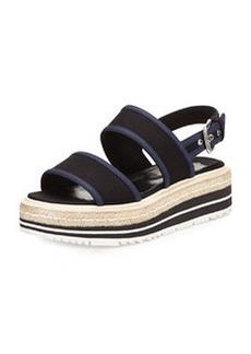 Gabardine Bicolor Espadrille Sandal, Black/Navy (Nero+Baltico)   Gabardine Bicolor Espadrille Sandal, Black/Navy (Nero+Baltico)