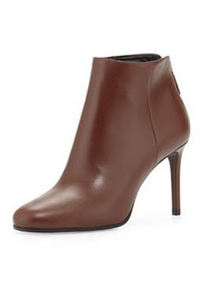 Leather Ankle Bootie, Brown   Leather Ankle Bootie, Brown