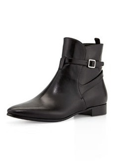 Leather Boot with Ankle Strap, Black (Nero)   Leather Boot with Ankle Strap, Black (Nero)