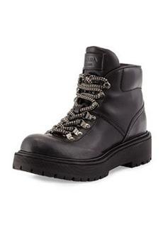 Leather Hiking Boot, Nero   Leather Hiking Boot, Nero