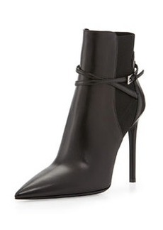 Pointed Stretch Ankle-Strap Bootie   Pointed Stretch Ankle-Strap Bootie