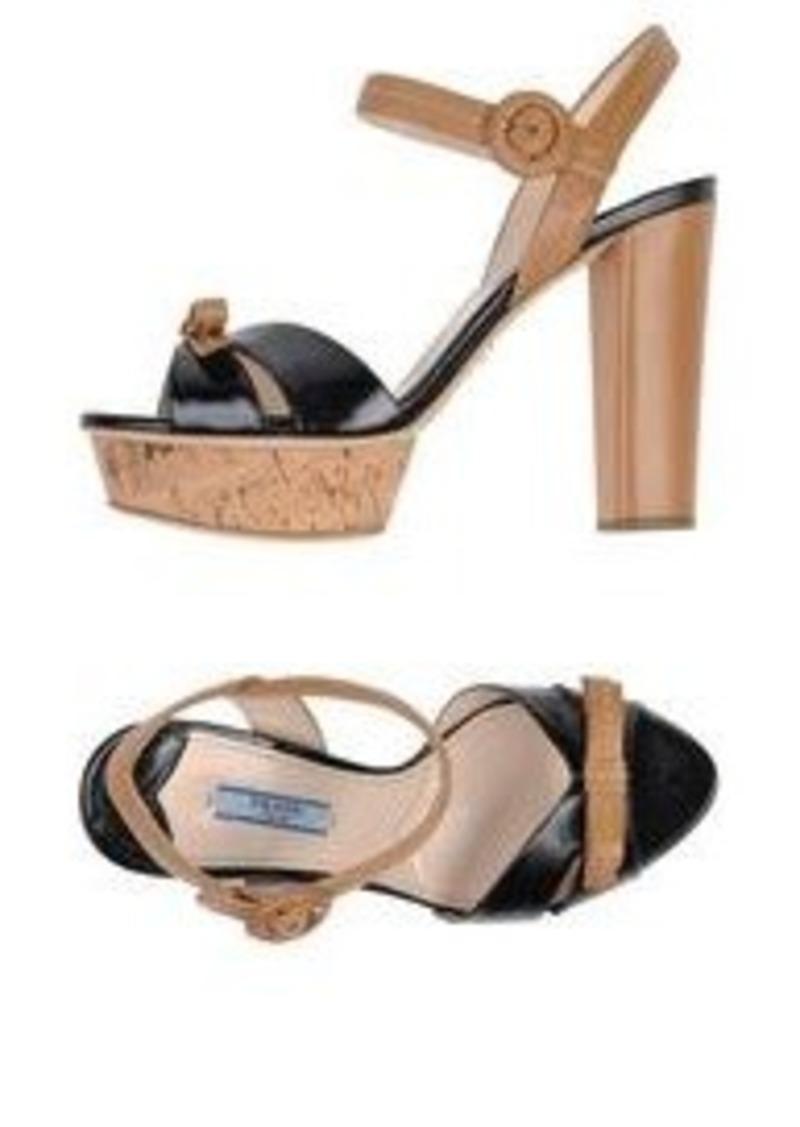 prada prada sandals shoes shop it to me. Black Bedroom Furniture Sets. Home Design Ideas
