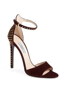 Prada Ankle Buckle Studded Sandal