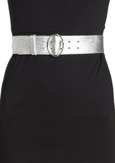 Prada argento silver leather belt