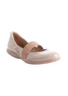 Prada beige patent leather strap detail ballet flats